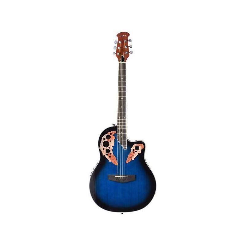 Chitara electro-acustica albastra HBO850 CE BL